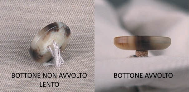 Differenze fra bottone non avvolto e avvolto